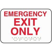 Emergency Exit Only ADA Sign