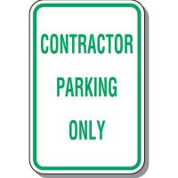 Employee Parking Signs - Contractor Parking Only