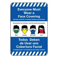 Everyone Must Wear a Face Covering Bilingual Sign