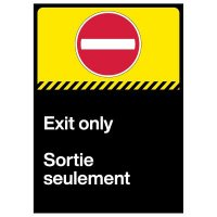 Exit Only Decal - French/English