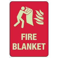Fire Blanket Photoluminescent Sign