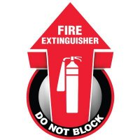 3D Floor Marker - Do Not Block Fire Extinguisher