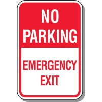 Fire Lane Signs - No Parking Emergency Exit