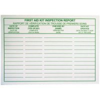 First Aid Kit Inspection Cards
