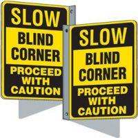 Flanged Traffic Signs - Slow Blind Corner