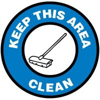 Floor Signs - Keep This Area Clean
