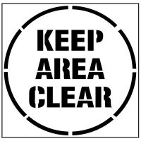 Pavement Tool Floor Stencils - Keep Area Clear S-5508 D