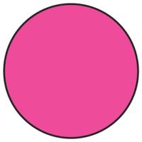 Fluorescent Pink Dot Labels