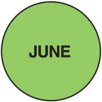 Fluorescent June Dot Labels