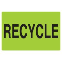 Fluorescent Warehouse & Pallet Labels - Recycle