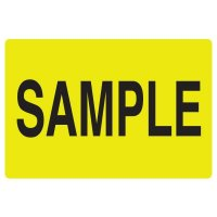 Fluorescent Warehouse & Pallet Labels - Sample