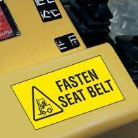 Forklift Safety Labels - Fasten Seat Belt