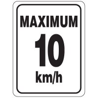 Speed Limit Sign - Maximum 10 km/h