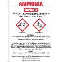 GHS Chemical Labels - Ammonia
