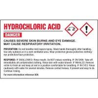 GHS Chemical Labels - Hydrochloric Acid
