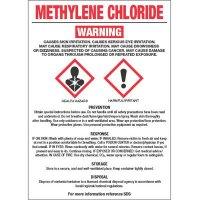 GHS Chemical Labels - Methylene Chloride