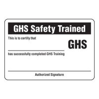 GHS Wallet Cards - GHS Certified Wallet Card (GHS Safety Trained)