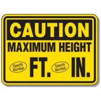 Semi-Custom Giant Clearance & Crane Signs - Maximum Height