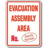 Semi-Custom Giant Emergency & Evacuation Signs - Evacuation Assembly