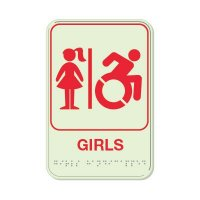 Girls (Dynamic Accessibility) - Glo Brite Braille Signs