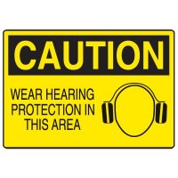 Ear Protection Signs - Caution Wear Hearing Protection