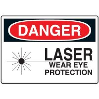 Eye Protection Signs - Danger Laser Wear Eye Protection