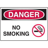 Harsh Condition OSHA Signs - Danger - No Smoking