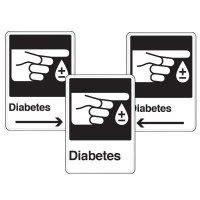 Health Care Facility Wayfinding Signs - Diabetes