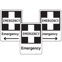 Health Care Facility Wayfinding Signs - Emergency