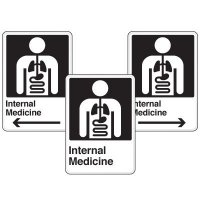 Health Care Facility Wayfinding Signs - Internal Medicine