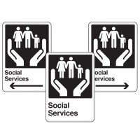 Health Care Facility Wayfinding Signs - Social Services