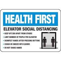 Elevator Social Distancing Signs