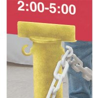 Stanchion Sign Adapter - Yellow