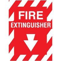 "Fiberglass FIRE EXTINGUISHER Sign - 9""W X 12""H"