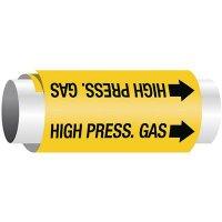 Setmark® Snap-Around Pipe Markers - High Pressure Gas