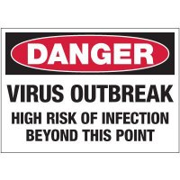 High Risk of Infection Beyond This Point Label