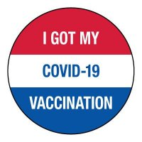 I Got MY COVID-19 Vaccination Hard Hat Label