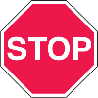 In Plant Traffic Stop Signs