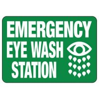 Emergency Shower And Eyewash - Industrial First Aid Signs