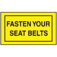 Instructional Labels - Fasten Your Seat Belts