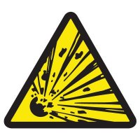 International Symbols Labels - Explosive Hazard