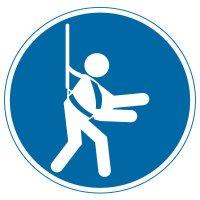 International Symbols Labels - Wear Safety Harness (Graphic)