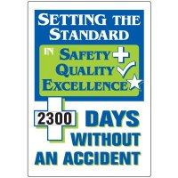 Jumbo Dial-A-Day Safety Scoreboard - Setting Standard Without Accident