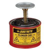 Justrite 1 Pint Steel Plunger Can