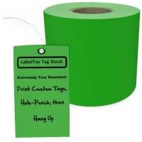 LabelTac® LT105TAG Tear-Resistant Tag Stock - Green