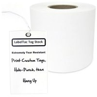 LabelTac® LT302TAG Tear-Resistant Tag Stock - White