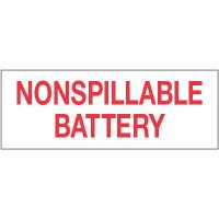 Lithium Battery Labels - Nonspillable Battery