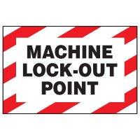 Lockout Hazard Warning Labels - Machine Lock-Out Point