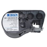 Brady MC1-1000-595-BL-WT BMP51/BMP41 Label Cartridge - White On Blue