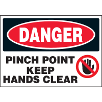 Machine Hazard Warning Labels - Danger Pinch Point